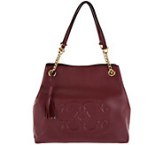 As Is C. Wonder Pebble Leather Satchel Handbag with C Detail - A290666