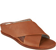 ED Ellen DeGeneres Leather or Suede Wedge Slides - Treya - A291066