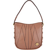orYANY Pebble Leather & Suede Hobo Handbag - A297466