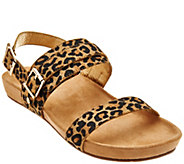 As Is Vionic Orthotic Leather or Haircalf Sandals - Samar - A299166