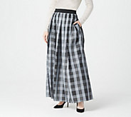 Joan Rivers Petite Length Holiday Plaid Maxi Skirt - A299366