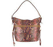 Aimee Kestenberg Leather Bucket Hobo Handbag- Devan - A300266