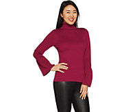 Joan Rivers Turtleneck Sweater with Tulip Sleeves - A300366