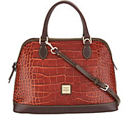 Dooney & Bourke Croco Leather Deana Satchel Handbag - A300766