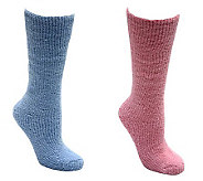MUK LUKS Womens Micro Chenille Knee-High Socks - A324966