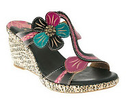 Spring Step Style Largo Leather Wedge Sandals - A328666