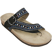 White Mountain Jeweled Thong Sandals - Harbour - A358366