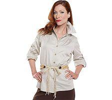 George Simonton Safari Style Shirt Jacket with Belt