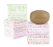 Olivella Set of6 Scented 100Virgin Olive Oil Beauty Bars - A203467
