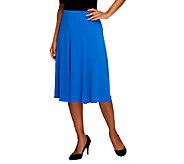 Susan Graver Essentials Liquid Knit Pull-on Six Gore Skirt - A213067
