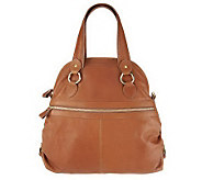 Merci Marie Norina Calfskin Leather Dome Shaped Satchel - A233467