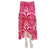Liz Claiborne New York Ikat Print Crossover Maxi Skirt - A237967