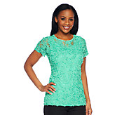 George Simonton Jacquard Knit T-Shirt with Milky Knit Back - A241067