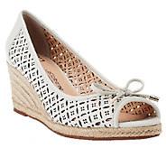 Liz Claiborne New York Perforated Wedges with Bow Detail - A254367