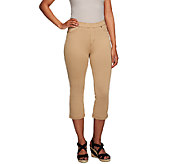 Susan Graver Essentials French Knit Capri Length Jeggings - A255367
