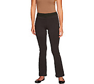 Women with Control Petite Tummy Control Contrast Waist Pants - A256167