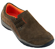 Clarks Nubuck Slip-On Shoes - Verdict Graham - A258867