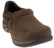 Dansko Nubuck Stain Resistant Slip-on Shoes with Vibram - Celeste - A260767