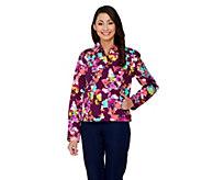 Isaac Mizrahi Live! Allover Watercolor Floral Jacket - A262067