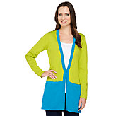 Joan Rivers Color Block Boyfriend Cardigan - A262567
