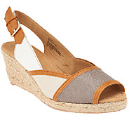 White Mountain Peep-toe Espadrille Wedges - Styling - A262767