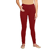 As Is Denim & Co. How Comfy Petite Pull-on Leggings - A264767