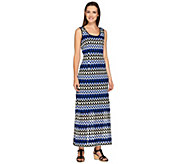 Linea by Louis DellOlio Petite Knit Zigzag Maxi Dress - A265567
