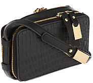 As Is G.I.L.I. Hornback Croco Leather Micro Bag - A265667