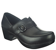 As Is Dansko Leather or Nubuck Slip-On Shoes w/ Strap - A265767