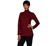 Linea Leisure by Louis DellOlio Striped Knit Turtleneck - A267867