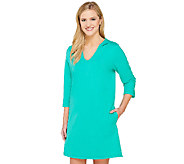 As Is Denim & Co. Beach Perfect Jersey Pull-Over Cover Up - A270467