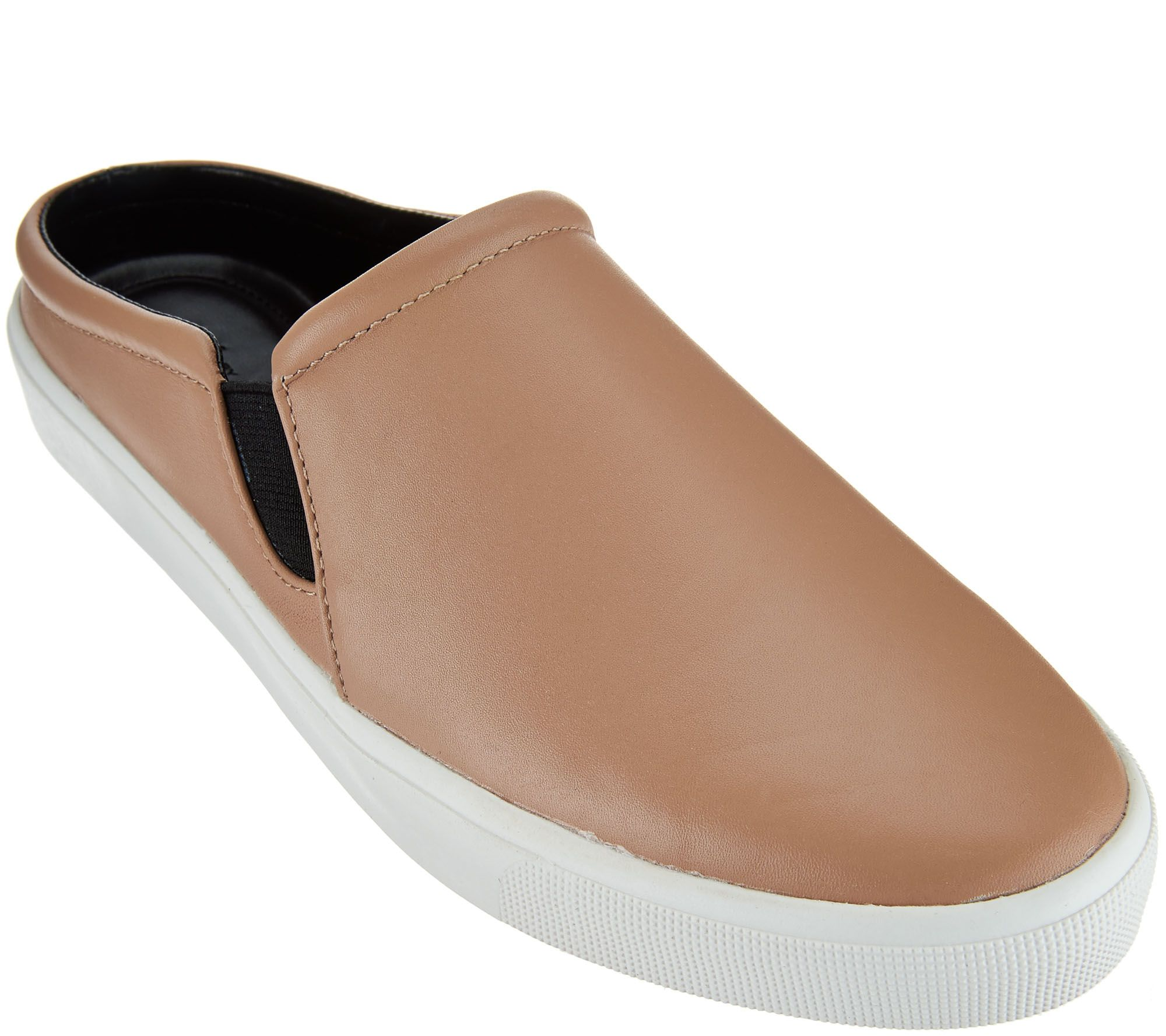 H by halston shoes qvc h by halston leather slide on shoes ellie a273967 nvjuhfo Image collections