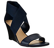 As Is Marc Fisher Stretch Criss-cross Wedges - Cecila - A279267