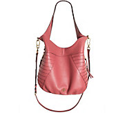 As Is orYANY Pebble Leather Hobo with Shoulder Strap - Isabella - A283367