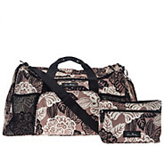 As Is Vera Bradley Lighten Up Ultimate Duffel & Cosmetic Bundle - A285867