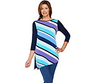 Susan Graver Liquid Knit Tunic with Printed Front - A287667