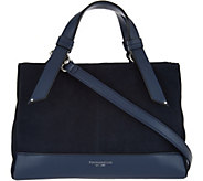 As Is Tignanello Water Resistant Suede RFID Satchel - A290667