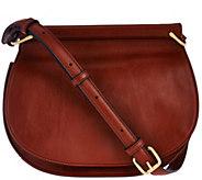 As Is Vera Bradley Gallatin Leather Saddle Bag - A291067