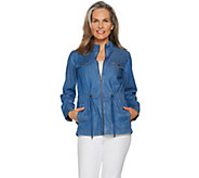 Studio by Denim & Co. Stretch Tencel Zip Front Anorak Jacket - A292967