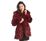 As Is Luxe Rachel Zoe Faux Fur Convertable Collar Coat - A293167