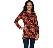 Denim & Co. Perfect Jersey Long Sleeve Round Neck Printed Tunic - A297767