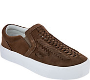 Marc Fisher Woven Suede Slip-On Shoes - Dexie - A298367