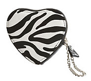Lee Sands Zebra Print Change Purse - A329767