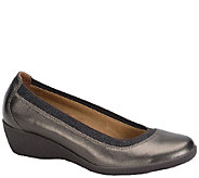 Softspots Smooth Leather Wedge Slip-ons - Stephanie II - A335767