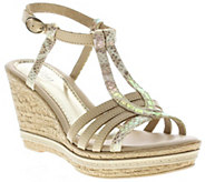 Azura by Spring Step Leather Wedge Sandals - Midsummer - A339967