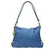 Maxx New York Pebble Leather Pocket Hobo w/ Strap Detail - A222668