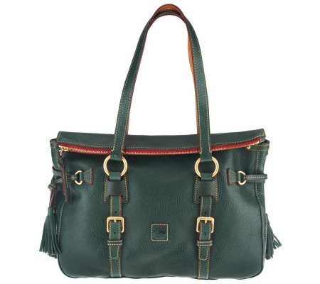 Dooney & Bourke Florentine Leather Tassel Satchel