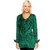 Status by Star Jones Button Front Woven Blouse - A237768