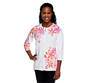 Quacker Factory Flower Power Daisy Sweater Cardigan - A240868