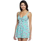 Fit 4 U Thighs Le Fleur Vintage Tie Swim Dress - A252568